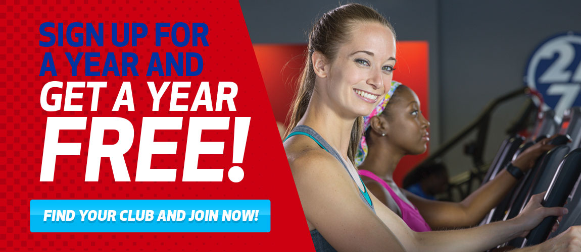 Workout Anytime - Buy a Year, Get a Year FREE!