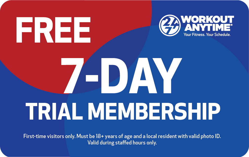 Workout Anytime Free 7-Day Trial Membership