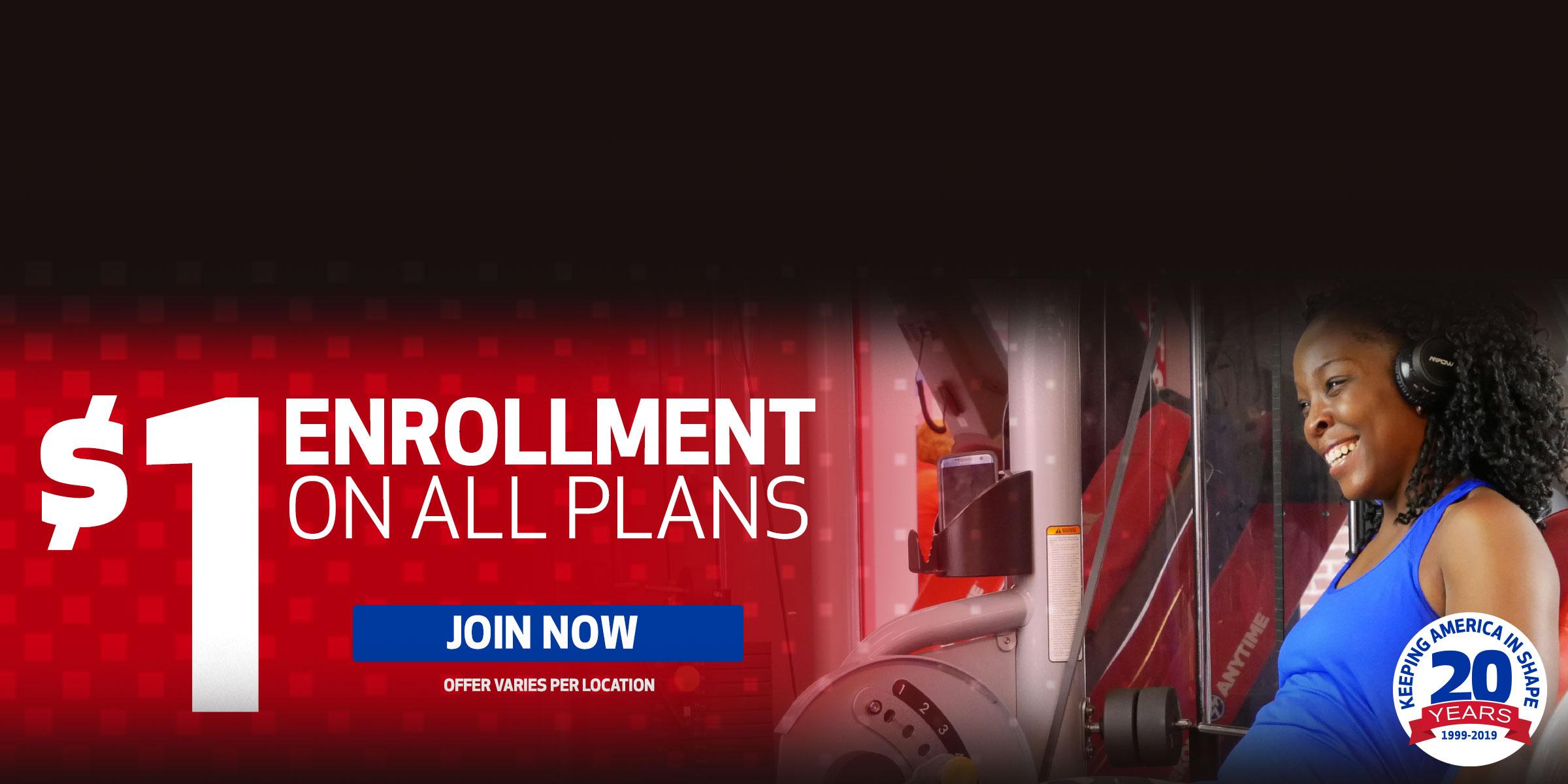 $1 Enrollment on All Plans